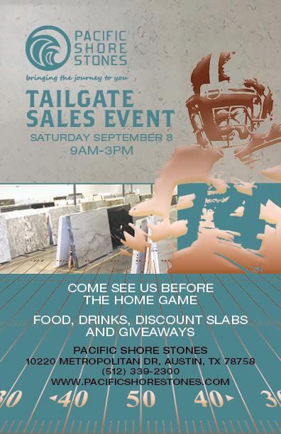 Austin Tailgate Sale @ Pacific Shore Stones Austin
